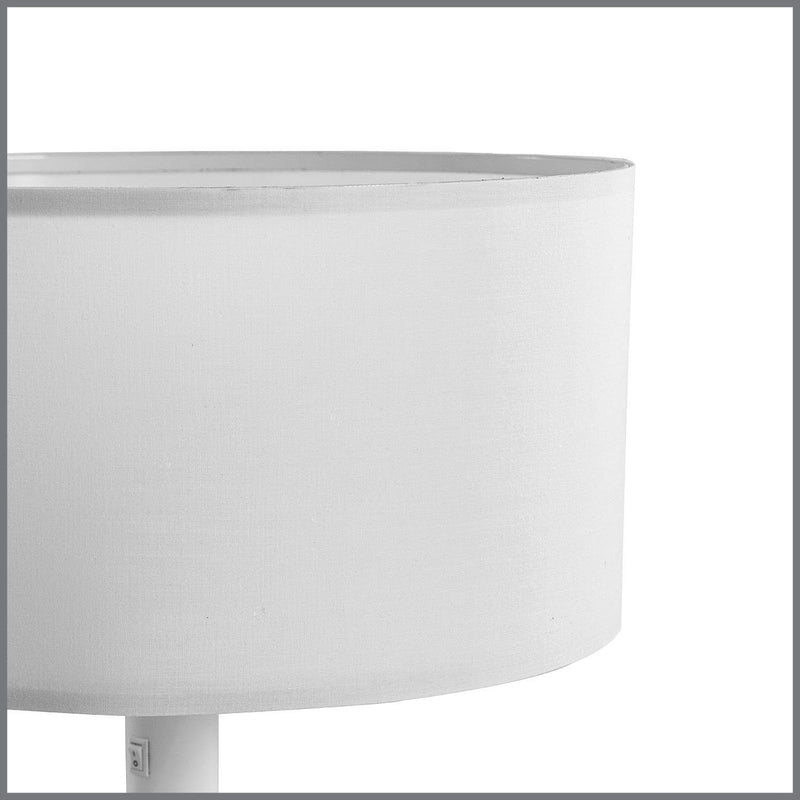 CLARION TABLE LAMP in WHITE H48cm (E27)