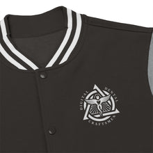 Load image into Gallery viewer, DDC White Emblem Men's Varsity Jacket