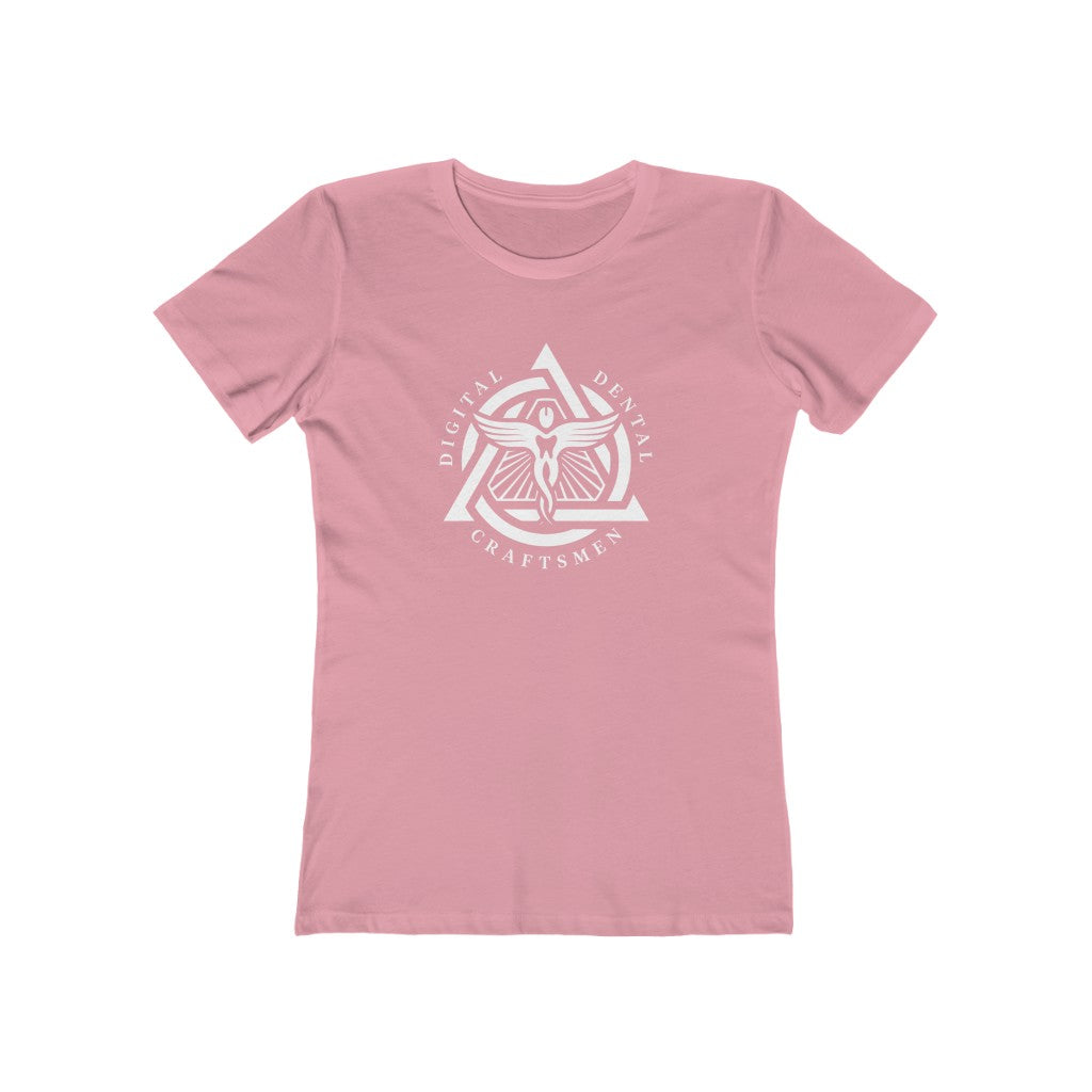 White Emblem Women's Crewneck T-Shirt