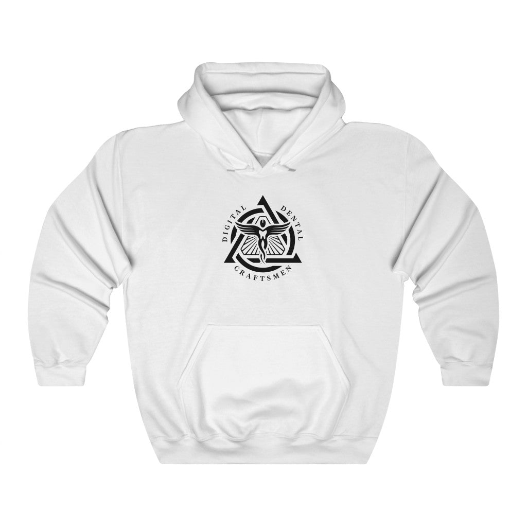 DDC Black Emblem Unisex Heavy Blend™ Hooded Sweatshirt