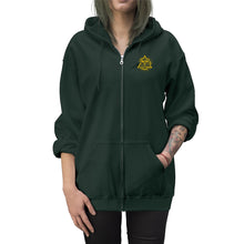 Load image into Gallery viewer, DDC Gold Emblem Unisex Zip Up Hoodie