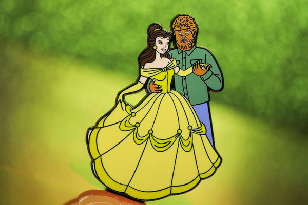 Beauty and the wolfman pin