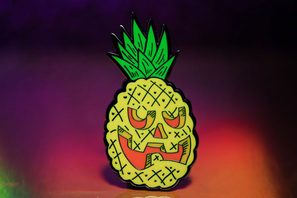 Pineapple Face pin