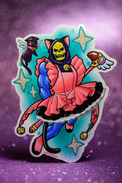 Card Captor Skeletor sticker