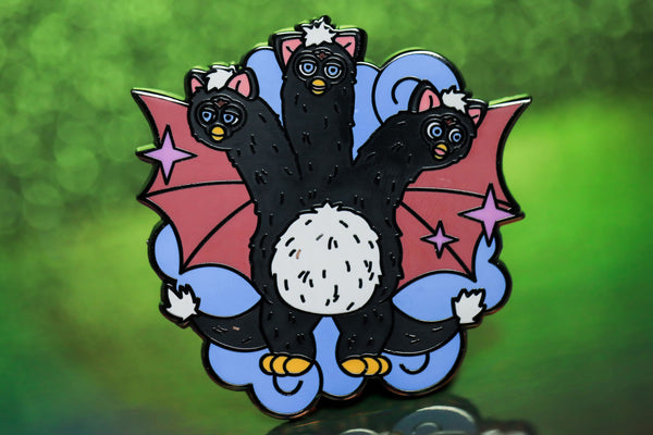 Black king Furby Pin