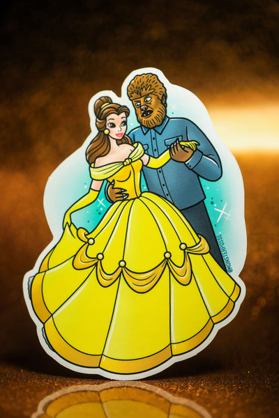 Beauty and the wolfman sticker