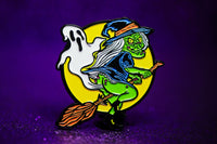 Ghost Fart Witch pin