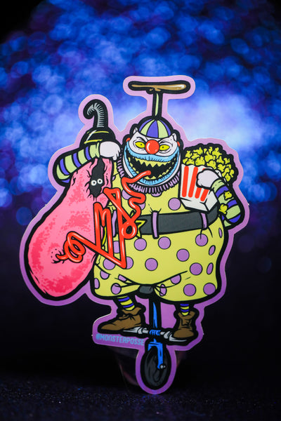 Cotton Candy Clown Sticker