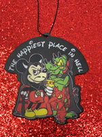 Happiest place in Hell air freshener