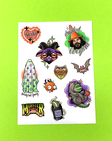 Spooky But Fancy Sticker Sheet