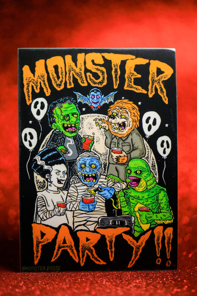 Monster Party Sticker