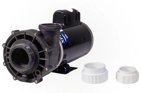"Gecko Aqua Flo XP2E 4 HP Pump 2 Speed 56 Frame 2.5"" Plumbing Unions - 05340011-5040-Aqua Supercenter Pool Supplies"