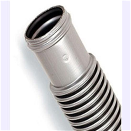 "1.5"" x 4' Above Ground Filter Hose - Cuffed - Silver-Black Premium-Aqua Supercenter Outlet - Discount Swimming Pool Supplies"
