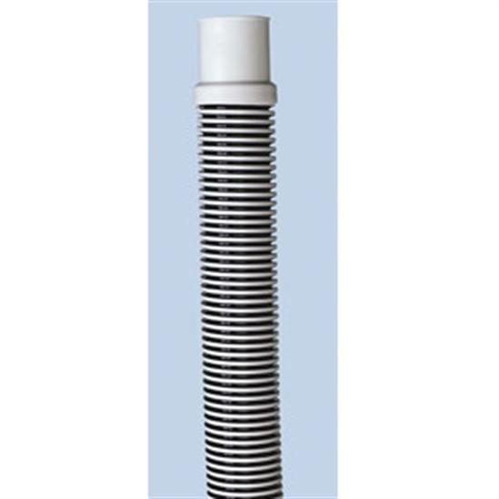"1.5"" x 8' Above Ground Filter Hose - Cuffed - Silver-Black Premium-Aqua Supercenter Outlet - Discount Swimming Pool Supplies"