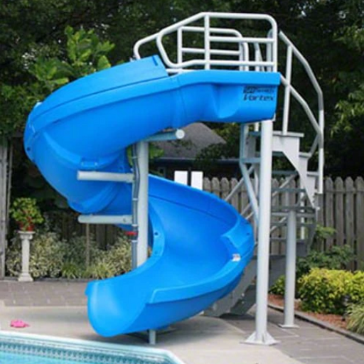 SR Smith Vortex Slide Open Flume & Stairs Blue - 695-209-33-Aqua Supercenter Pool Supplies