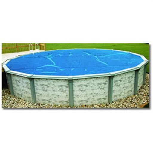 8-mil Above Ground Blue Solar Blanket -12' x 24' Oval-Aqua Supercenter Outlet - Discount Swimming Pool Supplies