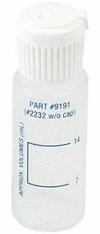 Taylor CYA Dispensing Bottle Calibrated 7 mL and 14 mL. Plastic with Cap .75 oz .- 9191