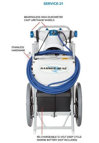Hammer Head Service-21 Pool Cleaner with 60' Cord - SERVICE-21-60-Aqua Supercenter Pool Supplies