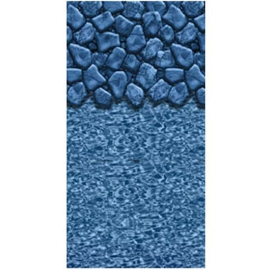 "Above-Ground Pool 20 GA. 52"" Boulder Swirl Beaded Vinyl Liner- 11' - 12' X 25' OVAL-Aqua Supercenter Outlet - Discount Swimming Pool Supplies"