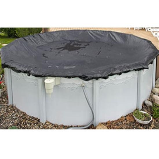 Above-Ground Rugged Mesh Winter Cover -Pool Size: 24' Round- Arctic Armor 8 Yr Warranty-Aqua Supercenter Outlet - Discount Swimming Pool Supplies