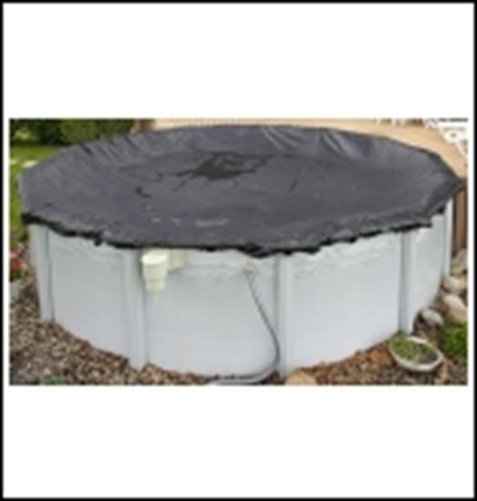 Above-Ground Rugged Mesh Winter Cover -Pool Size: 28' Round- Arctic Armor 8 Yr Warranty-Aqua Supercenter Outlet - Discount Swimming Pool Supplies