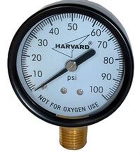 "American Granby .25"" MPT Lower Pressure Gauge - Plastic Case-Aqua Supercenter Outlet - Discount Swimming Pool Supplies"