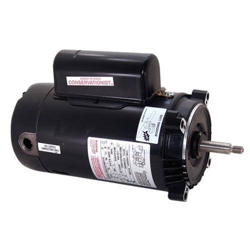 AO Smith 1HP Conservationist Up Rated Threaded Shaft Pump Motor - Energy Efficient-Aqua Supercenter Outlet - Discount Swimming Pool Supplies