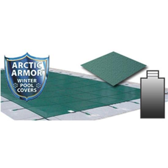 Arctic Armor 18' x 36' Ultra Light Solid Safety Cover w- 4' x 8' Center End Step Section - Green-Aqua Supercenter Outlet - Discount Swimming Pool Supplies
