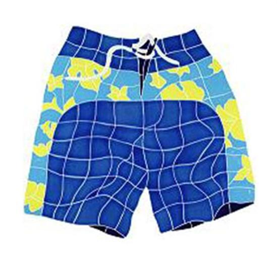 Artistry In Mosaics Hang 10 Line Medium Blue Board Shorts-Aqua Supercenter Outlet - Discount Swimming Pool Supplies