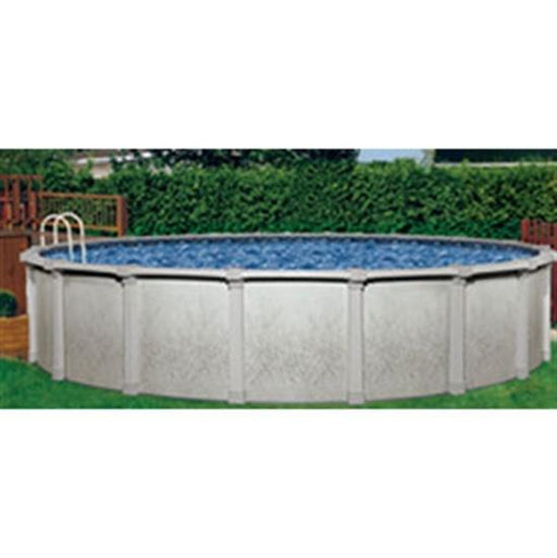 "Atlantis 12' Round 52"" Steel Pool with 6"" Top Rail - Gray Wall-Aqua Supercenter Outlet - Discount Swimming Pool Supplies"