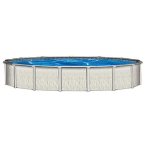 "Barbados 27' Round 52"" Steel Pool with 7.5"" Top Seat-Aqua Supercenter Outlet - Discount Swimming Pool Supplies"
