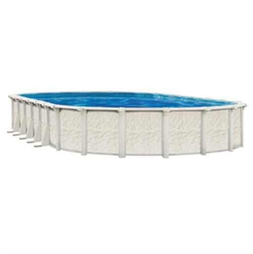 "Belize 12' x 24' Oval 52"" Steel Pool with 6"" Top Seat-Aqua Supercenter Outlet - Discount Swimming Pool Supplies"