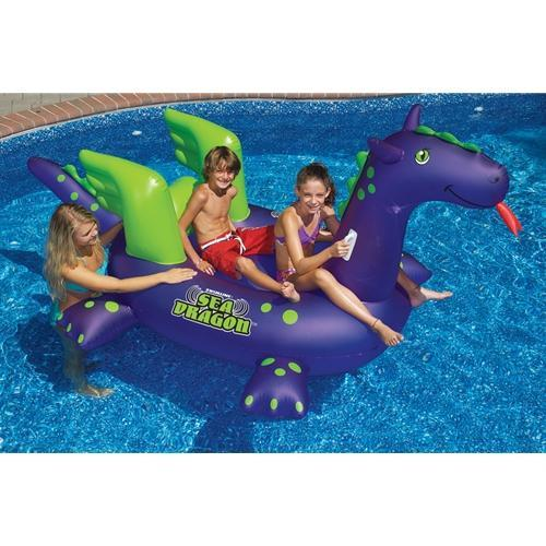 Giant Sea Dragon Ride-On Inflatable Pool Toy-Aqua Supercenter Outlet - Discount Swimming Pool Supplies
