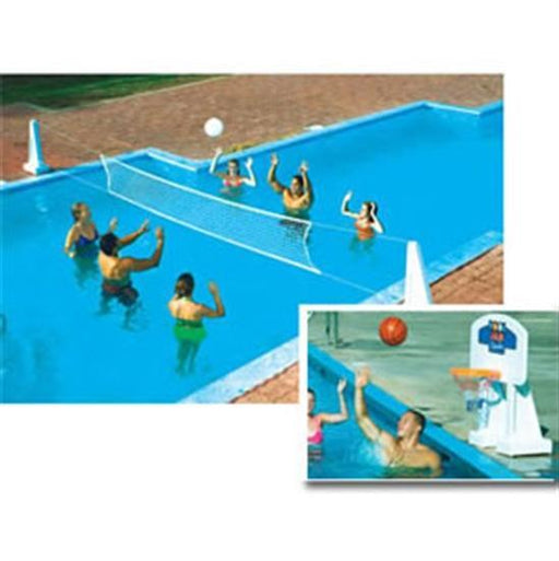Pool Jam In-Ground Volley Ball - Basket Ball Combo-Aqua Supercenter Outlet - Discount Swimming Pool Supplies