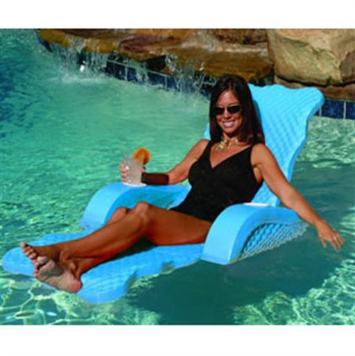 Scalloped Floating Lounge - Aquamarine-Aqua Supercenter Outlet - Discount Swimming Pool Supplies