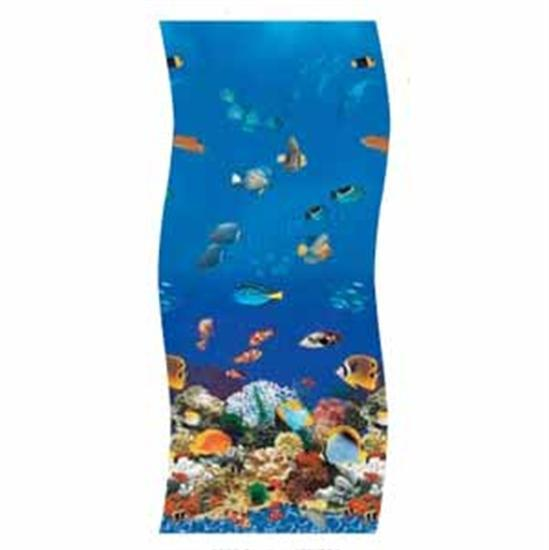 "Swimline S-G Ocean Reef 52"" Unibead Vinyl Liner - 16' x 40' Oval-Aqua Supercenter Outlet - Discount Swimming Pool Supplies"