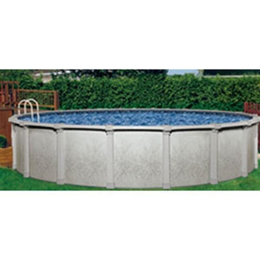 "Tahitian 36' Round 54"" Steel Wall Pool with Resin Top Rail & SS Panel-Aqua Supercenter Outlet - Discount Swimming Pool Supplies"