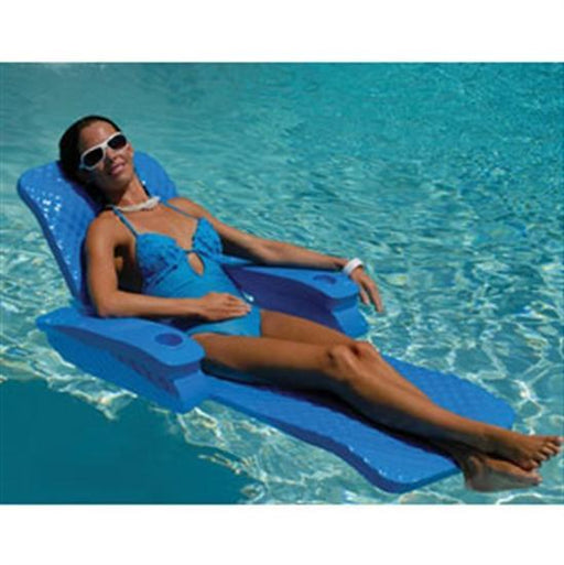 Texas Recreation Folding Baja II Lounge - Blue-Aqua Supercenter Outlet - Discount Swimming Pool Supplies