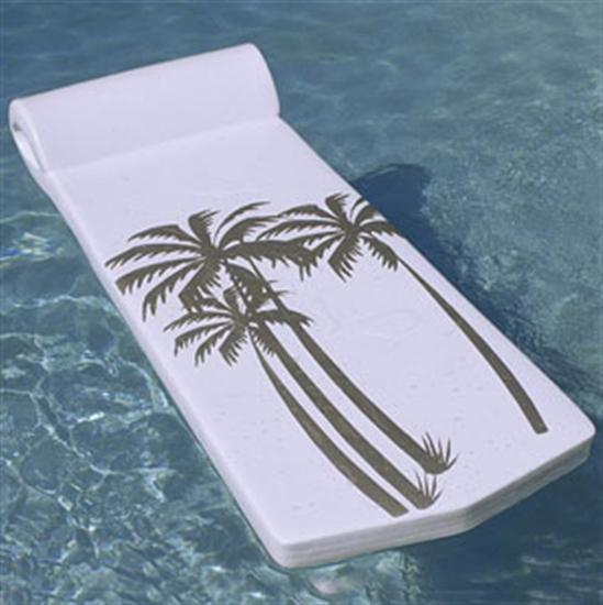 Texas Recreation Luxe Sunsation Pool Float - White-Aqua Supercenter Outlet - Discount Swimming Pool Supplies