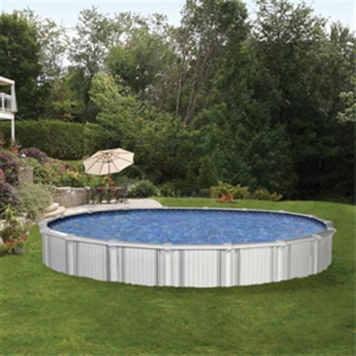 "Trinidad 27' Round 54"" Aluminum Pool-Aqua Supercenter Outlet - Discount Swimming Pool Supplies"