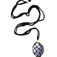 Load image into Gallery viewer, Macramé Crystal Pouch Necklace