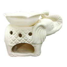 Load image into Gallery viewer, Elephant Oil Burner with Flower HWC Australia