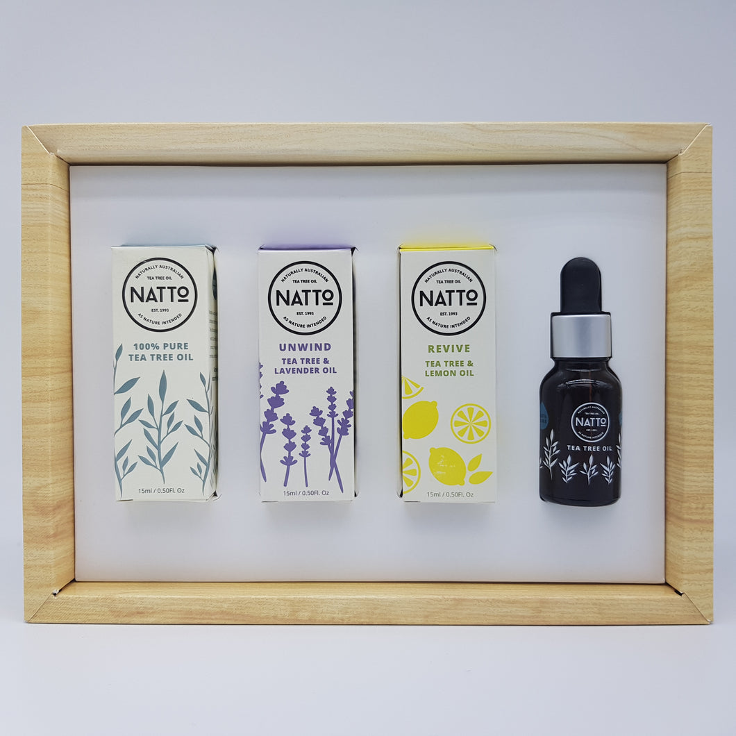 NATTo Pure Essential Oils Trio Set HWC Australia