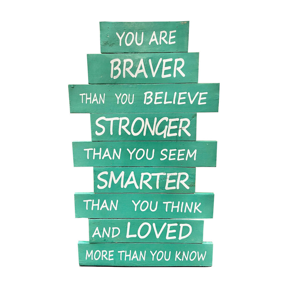 Green Braver Than You Think Recycled Wood Wall Art HWC Australia