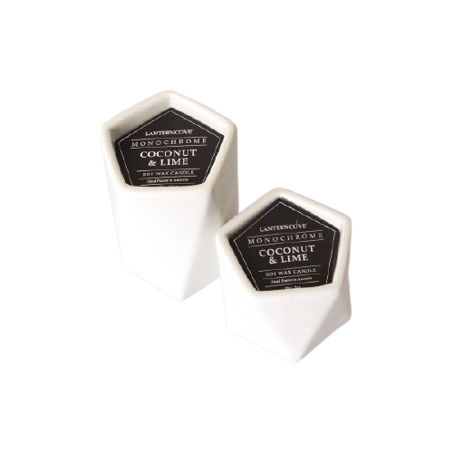Coconut & Lime Monochrome White Candle HWC Australia