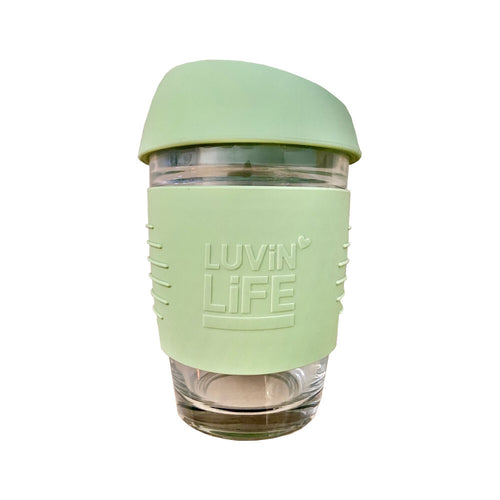 Light Green Glass Travel Cup HWC Australia