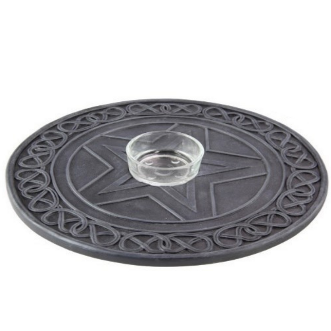 Pentagram Tealight / Incense Holder
