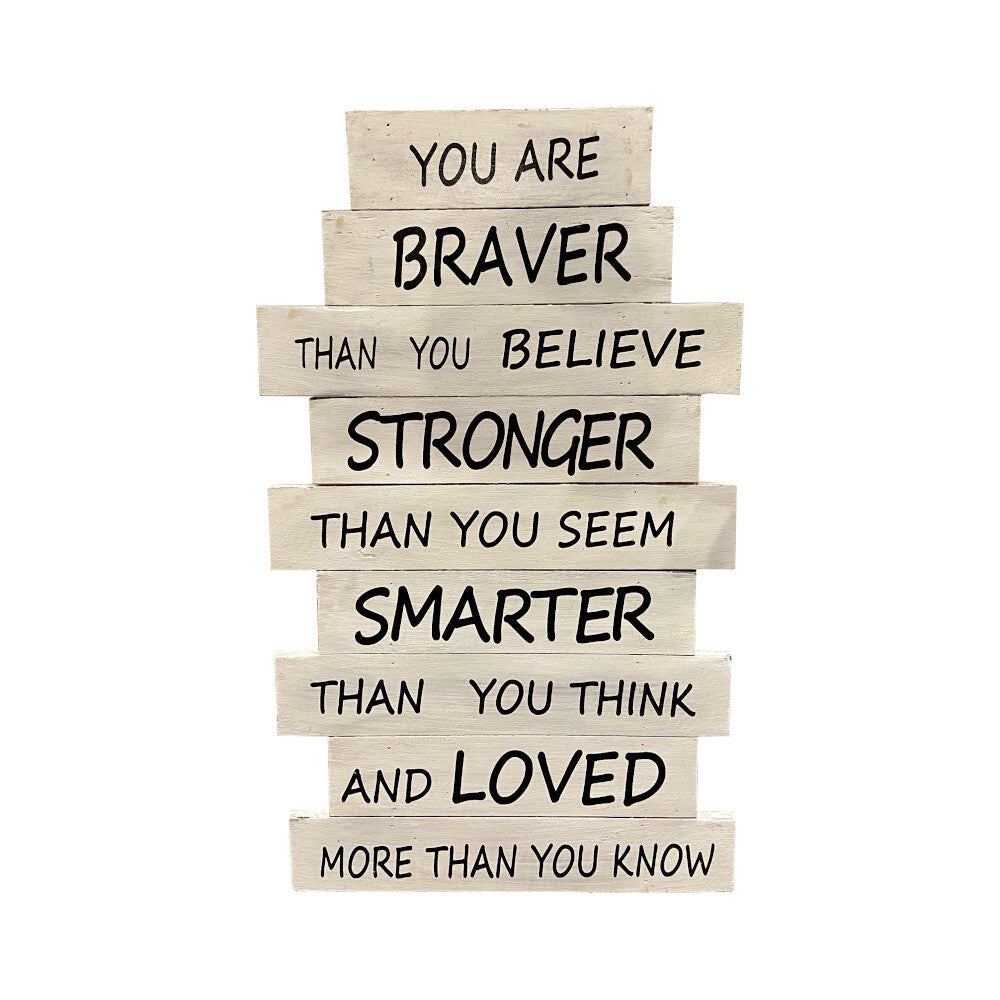 White Braver Than You Think Recycled Wood Wall Art HWC Australia