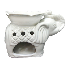 Load image into Gallery viewer, Elephant Oil Burner with Flower Bowl