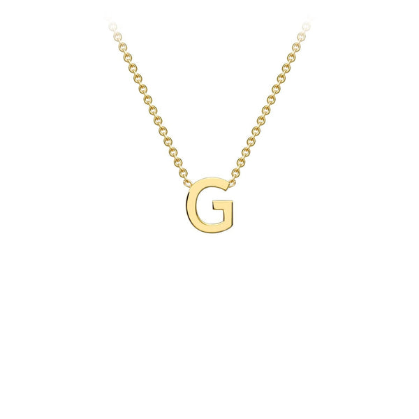 9K Yellow Gold 'G' Initial Adjustable Necklace 38cm/43cm | The Jewellery Boutique Australia